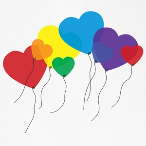balloon-hearts-rainbow-kepsar-moessor-flexfit-basebollkeps